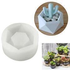 1pc Handmade Hexagon Silicone Flower Pot Mold Succulent Planter Vase Craft SU