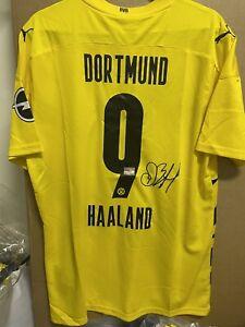 Signed Erling Haaland Borussia Dortmund Shirt  With coa