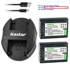 Kastar Battery Dual Charger for Sony NP-FH40 & DCR-DVD705 DCR-DVD708 DCR-DVD710