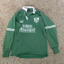 Canterbury New Zealand Vintage Rugby Shirt Jersey IRISH PERMANENT IRFU S SMALL