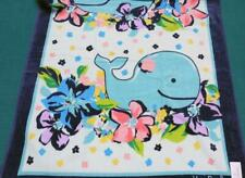 VERA BRADLEY Large Beach Towel 🌸 MARIAN FLORAL🌸  BLUE WHALE & Happy Floral