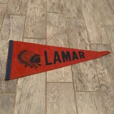Pennant flag vintage sports memorabilia Lamar savages Meridian Cardinals Miss Ms