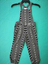 Girls' Front Buttons Side Zipper Printed Leg Elastic Jumpsuits Xhilaration XS