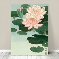 """Beautiful Japanese Floral Art ~ CANVAS PRINT 8x12"""" Flowering Lily - Koson"""