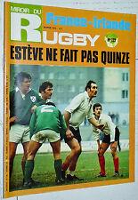 MIROIR RUGBY N°127 1972 FRANCE-IRLANDE SETE LLOYD LOURDES BAGNERES TARBES XIII