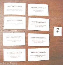 8 Carte CASSA della comunità monopoli edizione europea
