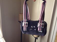 jenifer lopez small black small satchel purse multicolor canvas straps