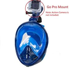 Full-Face Dry Snorkeling & Free-Diving Mask 180 Degree Anti-Fog w/ Camera Mount