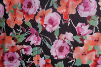 Floral Cotton Voile  Fabric Apparel Fabric  Designer Rose  By the Yard  BFab