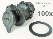 100X Waterproof Motorcycle Accessory Lighter Socket 12 Volt Power Outlet Plug