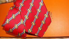 HERMES  silk tie. Classic   NEW with box