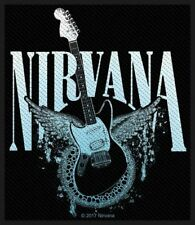 """NIRVANA - """"GUITAR"""" - WOVEN SEW ON PATCH - OFFICIAL - U.K.SELLER"""
