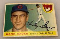 1955 Topps # 45 Henry Hank Sauer Baseball Card Chicago Cubs