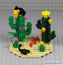 LEGO - Desert Scene w/ Cactus Plants Scorpion Vulture Snake - Wild West Animal