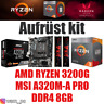 PC Bundle Kit Set ❤ AMD Ryzen 3200G + Grafik ✔ A320 Mainboard ✔ DDR4 8GB ✔