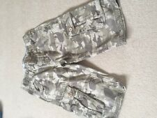 BOYS FAT FACE cargo shorts with pockets age 10-11 camoflage