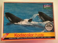 Kodacolor Puzzle 1000Piece Rare Whales No.77777N FACTORY SEALED NEW 1994 RoseArt