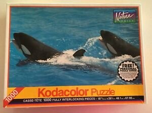 Whales Jigsaw Puzzle Kodacolor RoseArt 1994 FACTORY SEALED NEW 1000 Piece Rare