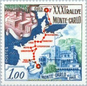 EBS MONACO 1962 - Monte Carlo Car Rally - YT 575 MNH**