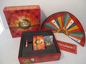 ARTICULATE BOARD GAME, FAST TALKING DESCRIPTIVE GAME 100% COMPLETE VGC
