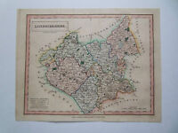 ANTIQUE MAP LEICESTERSHIRE BY CHAPMAN HALL ORIG COL DATE 1807 20 x 24cm approx