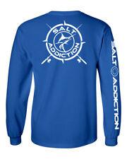 Salt Addiction t shirt long sleeve men's saltwater fishing apparel Marlin life