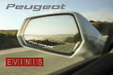 PEUGEOT SILVER SMALL SYMBOL MIRROR DECALS STICKERS GRAPHICS x3