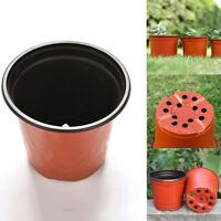 Soft Plastic Terracotta Round Planter Flower Vases Nursery Pots Plant Trays