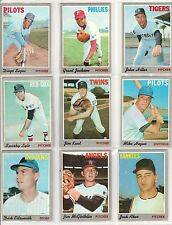 Lot of 9 1970 Topps BB Cards