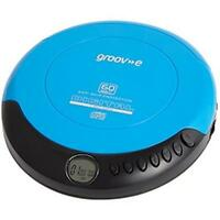 Groov-e GVPS110 Retro Series Personal CD Player With LCD Display Blue - New