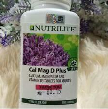 AMWAY NUTRILITE Cal Mag D Plus Calcium Magnesium Vitamin D 180 Tab Strong Bones
