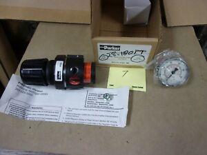 "Parker Watts Pneumatic 3/8"" NPT Compressor Tool Line Air Regulator 0-250 Psi"