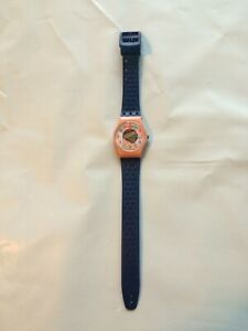 """Vintage 1988 Pink Swatch """"Camoflage"""" Women's Watch - Works"""