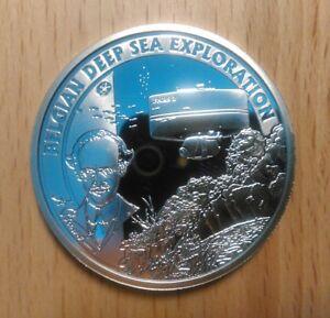 Belgium 10 Euro 2011 Deep Sea Exploration KM.311 ($50) Silver PROOF UNC