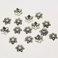 60pcs Tibetan silver color crafted flower bead cap findings  h0969