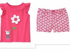 NEW GYMBOREE SPRING SUMMER  Daisy Park Girls Shorts CUTE Outfit Size 18-24 MONTH