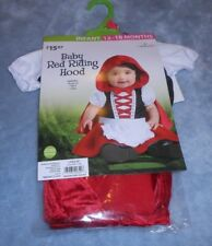 Incharacter Infant Costume Dress up Baby Red Riding Hood 12 to 18 Months  New