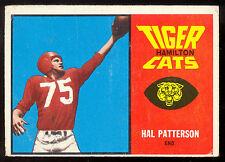 1964 TOPPS CFL FOOTBALL 31 HAL PATTERSON VGEX HAMILTON TIGER CATS UNIV OF KANSAS