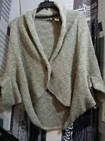 Anthropologie Moth S M Cocoon Shawl Heathered Sage Green Cardigan Sweater