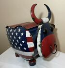 Star Spangled Bull Patriotic USA Flag Beverage Drinks Holiday Party Cooler Tub