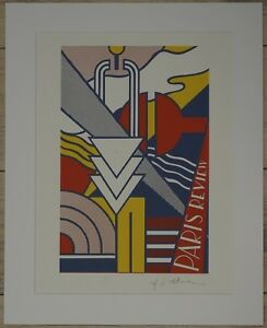 """Roy Lichtenstein """" Paris Review poster"""" Lithograph plate signed"""
