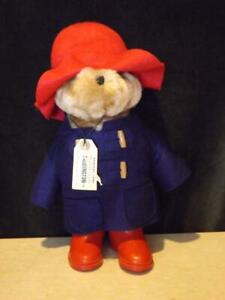 "Paddington Bear 1981 Blue Gabrielle Coat Red Hat Boots Tags 14"""