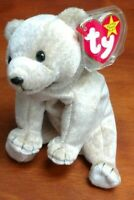 TY Beanie Baby - Retired - Almond - Bear - With Tag Errors