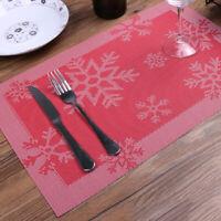 GI- Christmas Snowflake Dining Table Placemat Heat Insulation Mat Bowl Dish Pad