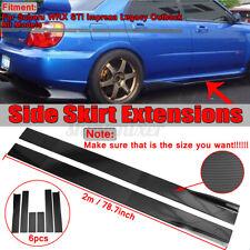 78.7'' Carbon Fiber Look Side Skirt Rocker Extension For Subaru Impreza WRX STI