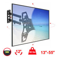 "Full Motion TV Wall Mount Tilt Swivel 27 32 37 40 42 43 46 49 50 55"" Flat Screen"