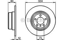 BOSCH Juego de 2 discos freno Trasero 324mm BMW X5 0 986 479 167