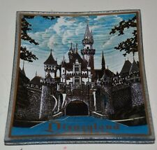 Nice Vintage DISNEYLAND Small Sleeping Beauty Castle Glass Tray Rings Earrings