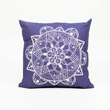 Moroccan Circle Cushion, Purple, Double Sided