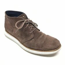 Men's Cole Haan Lunargrand Waterproof Chukka Boots Shoes Size 8.5 M Brown AD14